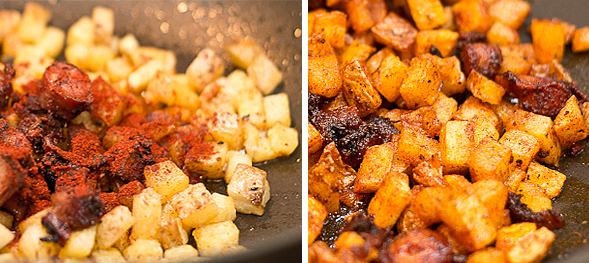 Paprika Octopus Potatoes mix