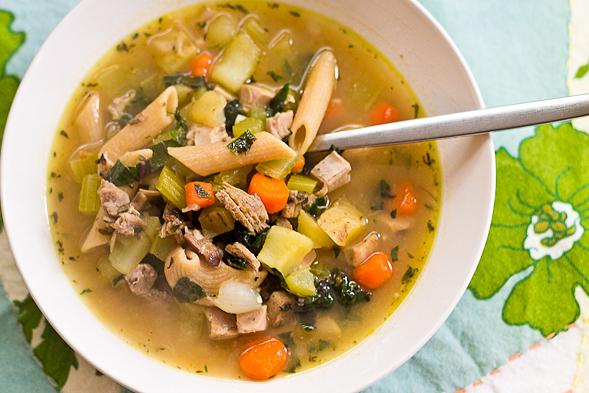 ... noodle soup scratch made leftover turkey noodle soup
