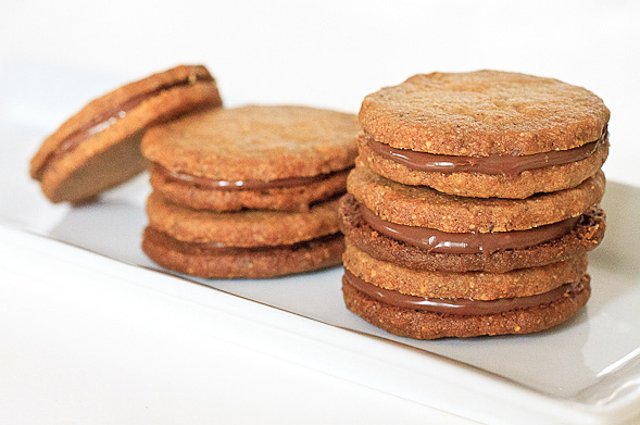 Hazelnut Cookies Made with Whole Wheat Flour and Nutella // wishfulchef.com