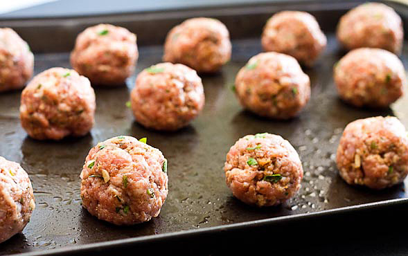 Baked Turkey Meatballs - Wishful Chef