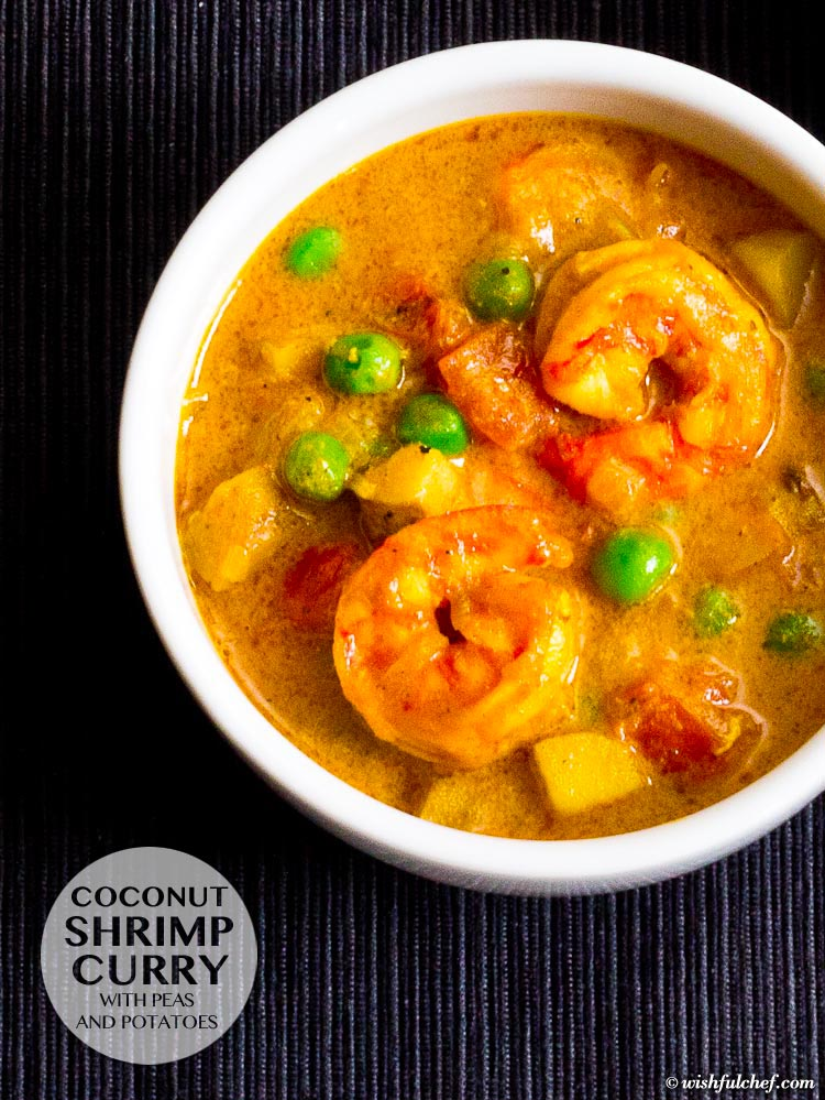 Coconut Shrimp Curry with Peas and Potatoes