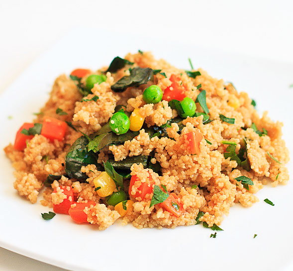 Crispy Whole Wheat Couscous Salad