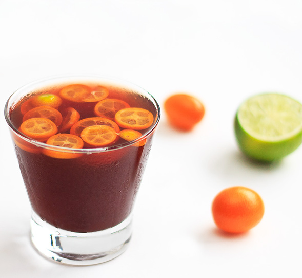 Kumquat Pomegranate Cocktail