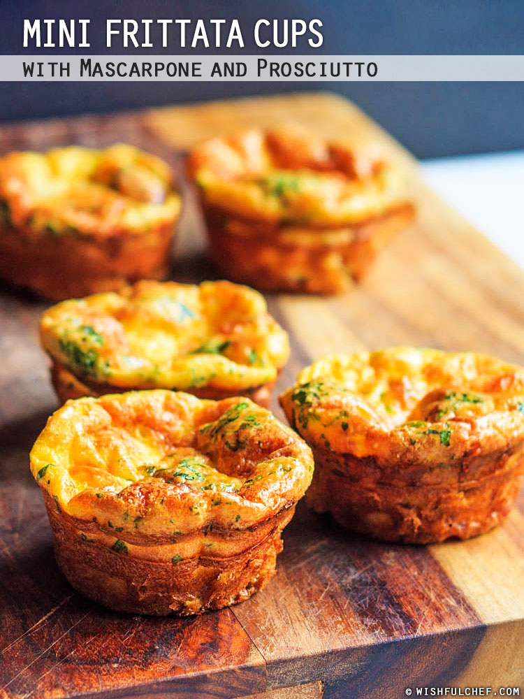 Mini Frittata Cups with Mascarpone | Wishful Chef