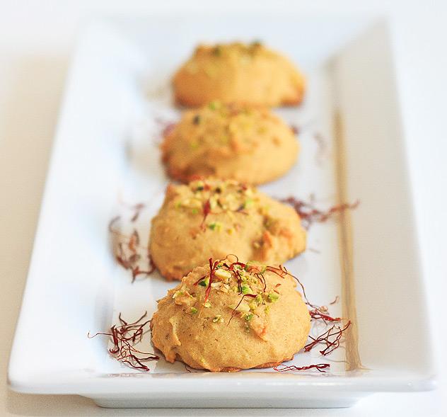 Saffron Pistachio Cookies