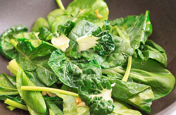 Stir Fried Asian Greens   An Easy 10 Minute Side Dish // wishfulchef.com