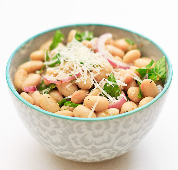 Cannellini Bean Salad with Red Onions and Parsley - Wishful Chef