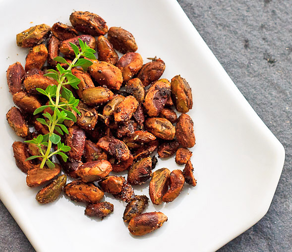 Roasted Pistachios with Thyme