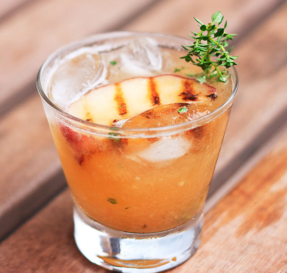 Grilled Peach Cocktail