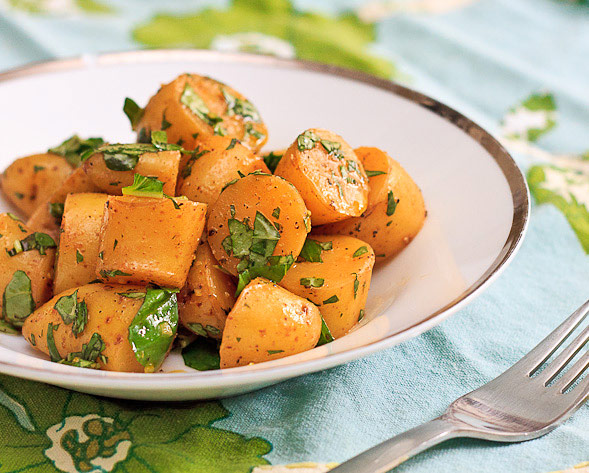 Lemon and Basil Potato Salad