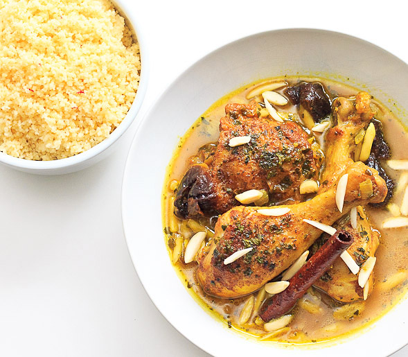 Moroccan Tagine with Saffron Couscous