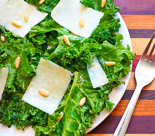 Kale Salad with Toasted Pine Nuts