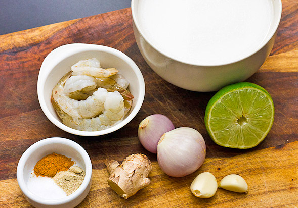 Coconut Soup Shrimp ingredients