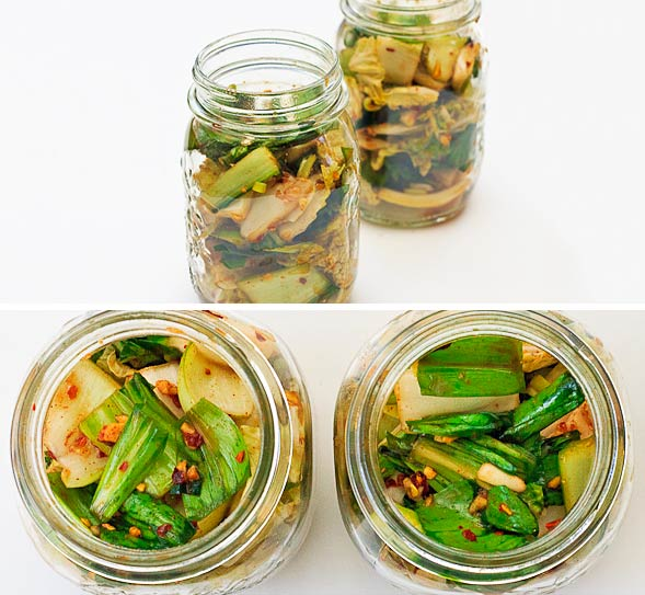 Evenly fill containers with mixture, then seal and keep at room temperature for 2-3 days, then store in fridge.