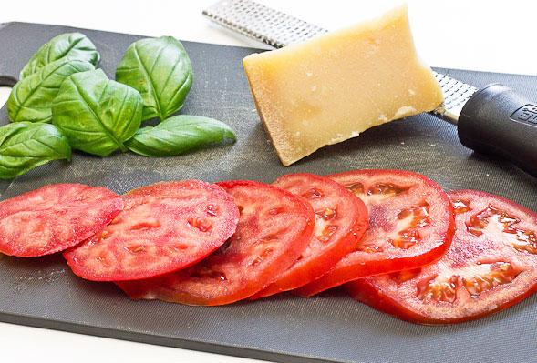 Baked Tomato Basil Parmesan ingredients