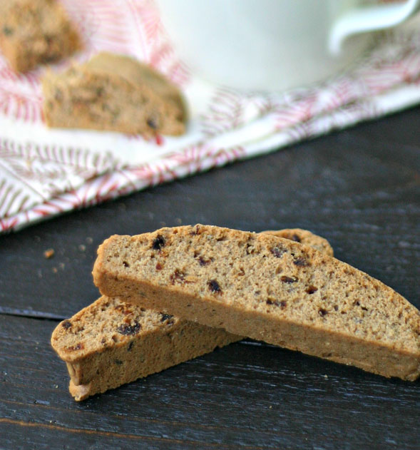 Whole Wheat Gingerbread Biscotti {Dairy-Free}