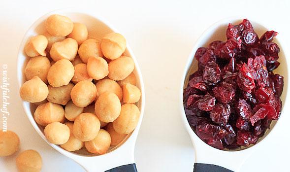 Macadamia Cranberry Cookies ingredients