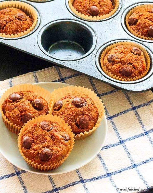 Chocolate Chip Pumpkin Banana Muffins 2