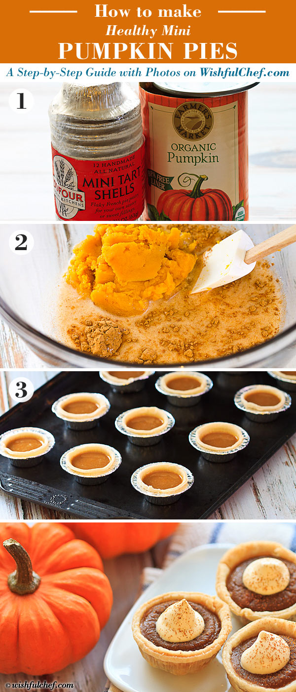 Healthy Mini Pumpkin Pies (Step-by-Step)