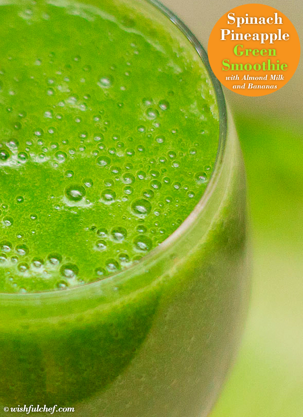 Spinach Pineapple Green Smoothie 2