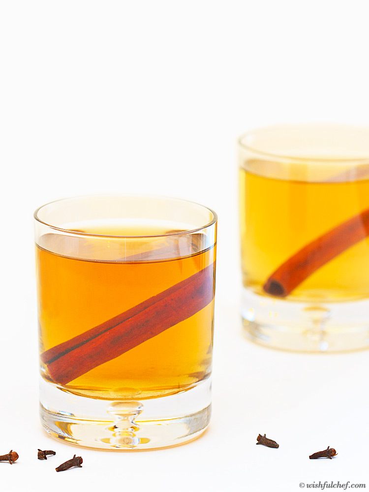 Spiced Bourbon Hot Toddy with Green Tea