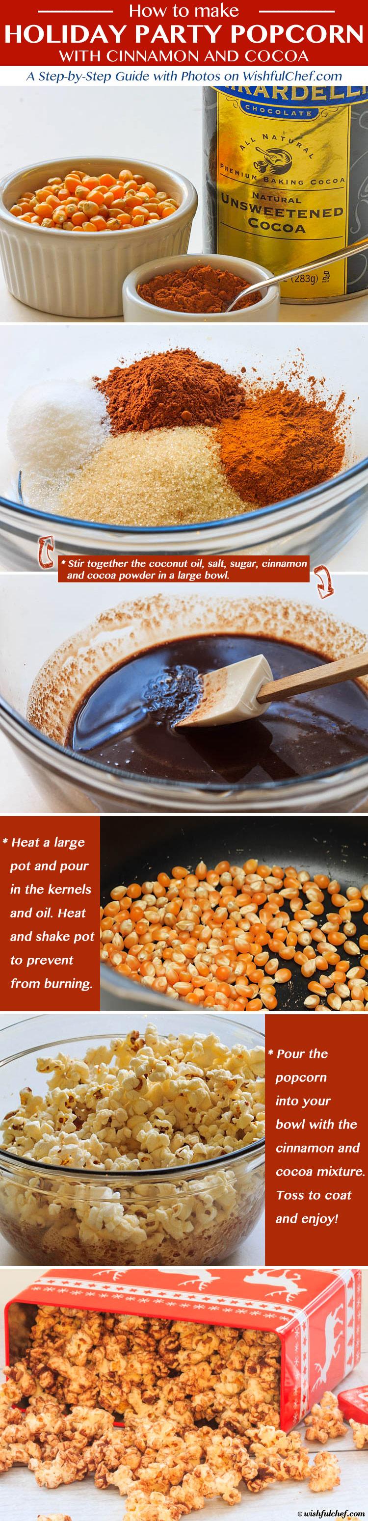 Cinnamon and Cocoa Party Popcorn