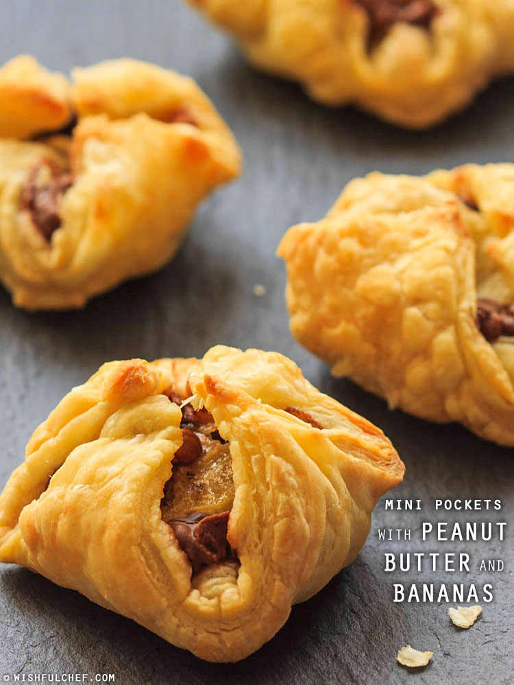 Mini PB Pastry Pockets