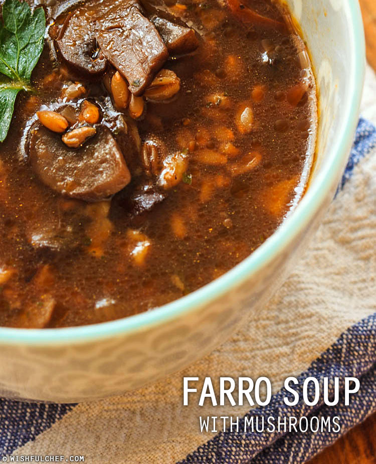 Farro Mushroom Soup