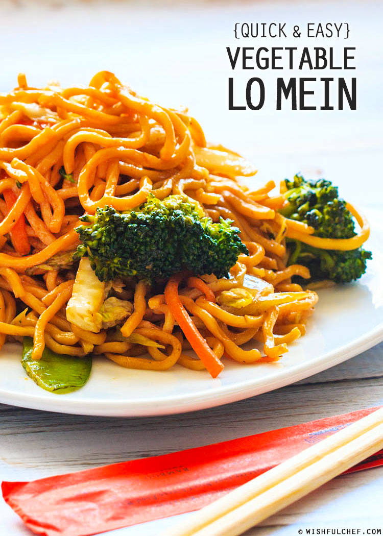 Quick and easy vegetable lo mein wishful chef veggie lo mein have you ever tried cooking forumfinder Gallery